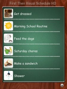First Then Schedule interface