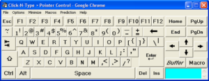 Onscreen Keyboard interface