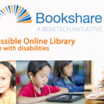 Bookshare logo with text An Accessible Online Library for people with disabilties