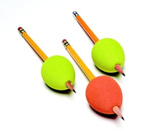 Foam Eggs on 3 pencils